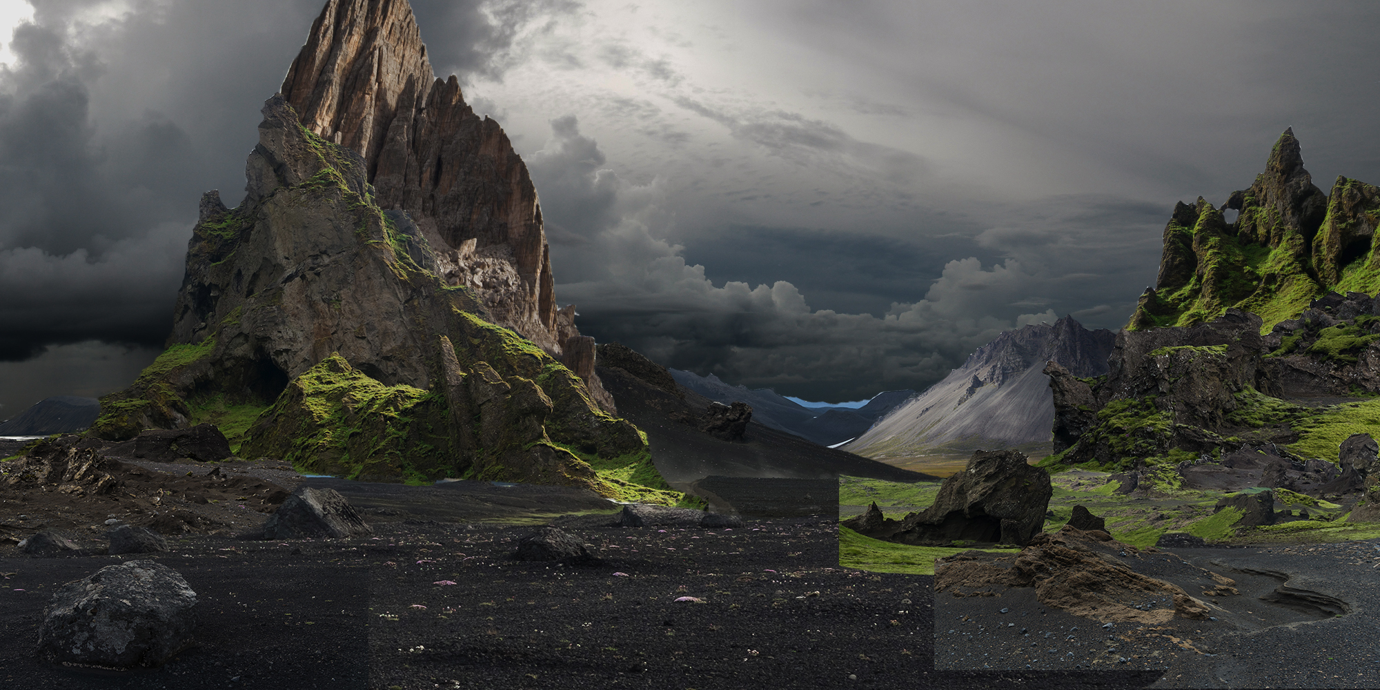 Photobashing learn squared for Matte painting