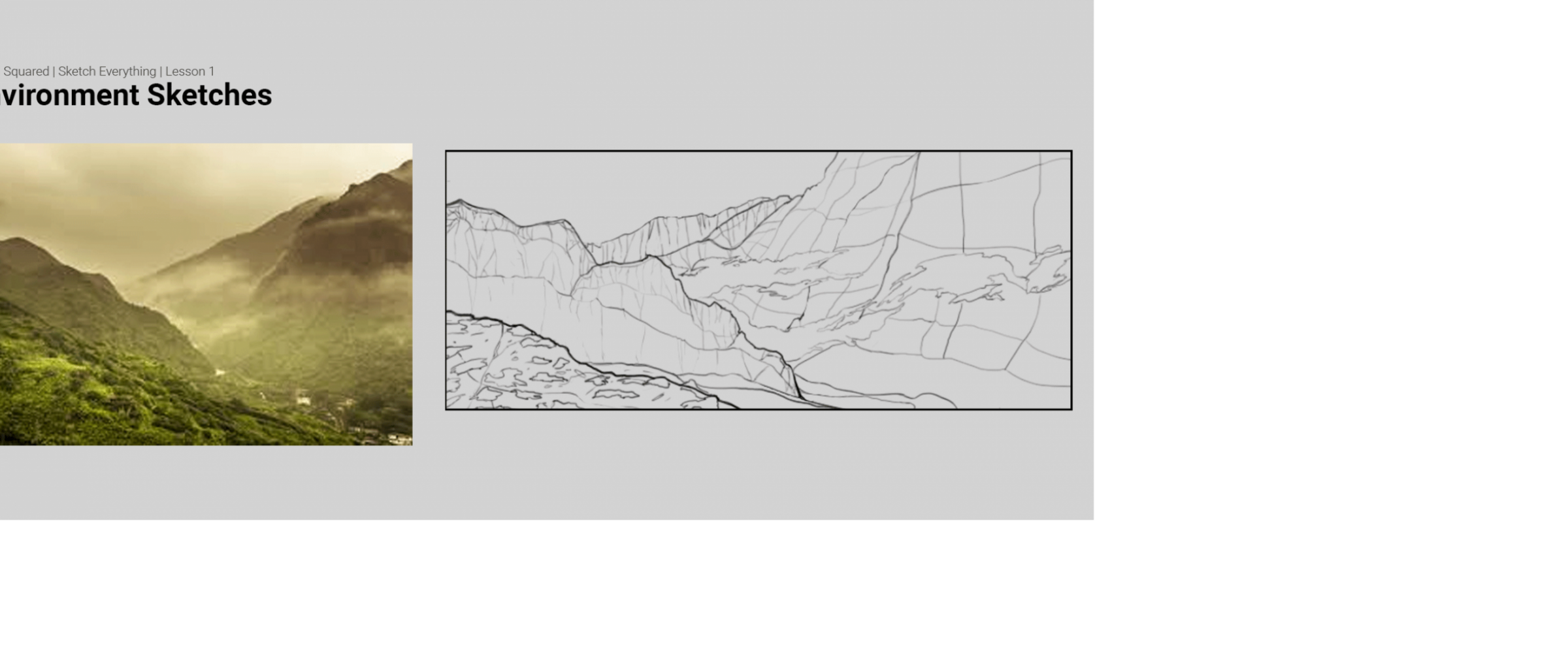 Lesson 1 Environment Sketching Learn Squared